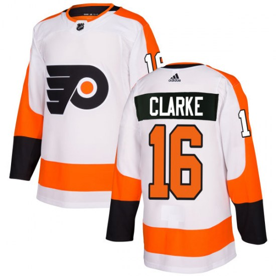 Bobby Clarke Philadelphia Flyers Authentic Adidas Jersey - White