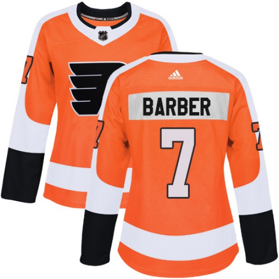 Bill Barber Philadelphia Flyers Women's Authentic Home Adidas Jersey - Orange