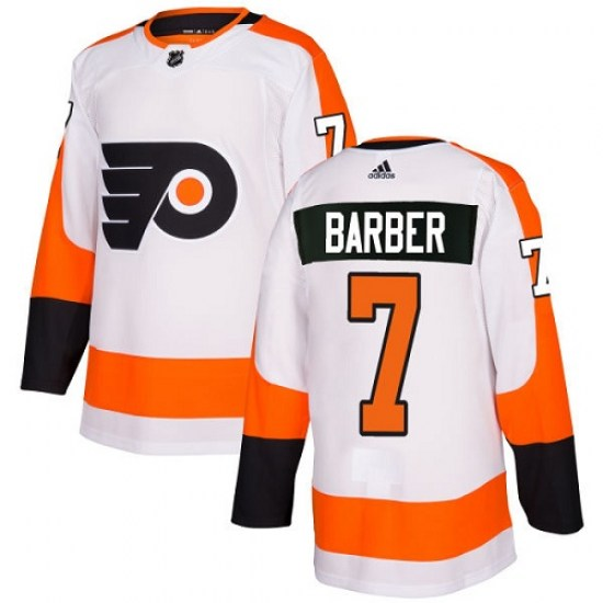 Bill Barber Philadelphia Flyers Youth Authentic Away Adidas Jersey - White
