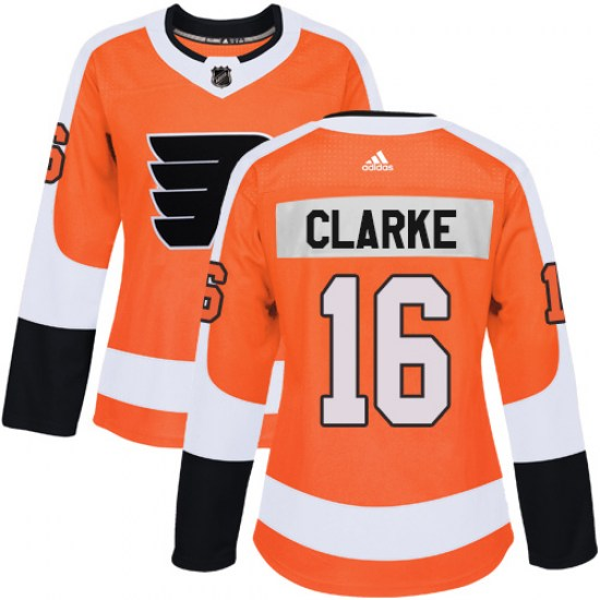 Bobby Clarke Philadelphia Flyers Women's Authentic Home Adidas Jersey - Orange
