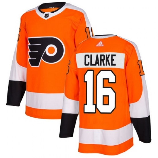 Bobby Clarke Philadelphia Flyers Youth Authentic Home Adidas Jersey - Orange