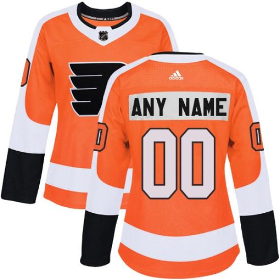 Custom Philadelphia Flyers Women's Authentic Home Adidas Jersey - Orange