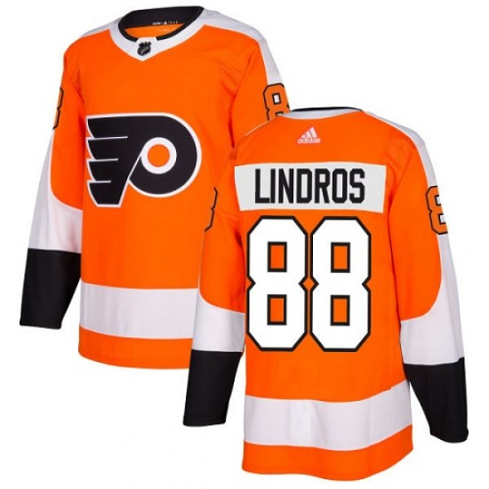 Eric Lindros Philadelphia Flyers Youth Authentic Home Adidas Jersey - Orange