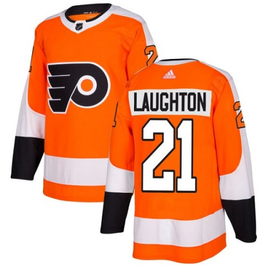 Scott Laughton Philadelphia Flyers Youth Authentic Home Adidas Jersey - Orange