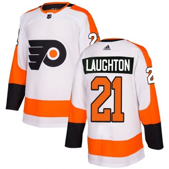Scott Laughton Philadelphia Flyers Youth Authentic Away Adidas Jersey - White