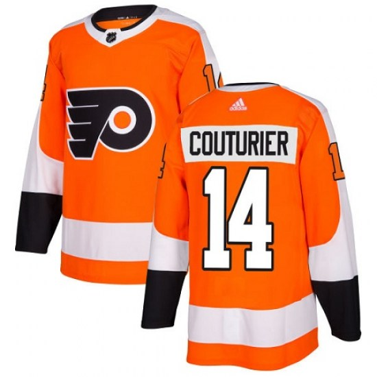 Sean Couturier Philadelphia Flyers Youth Authentic Home Adidas Jersey - Orange
