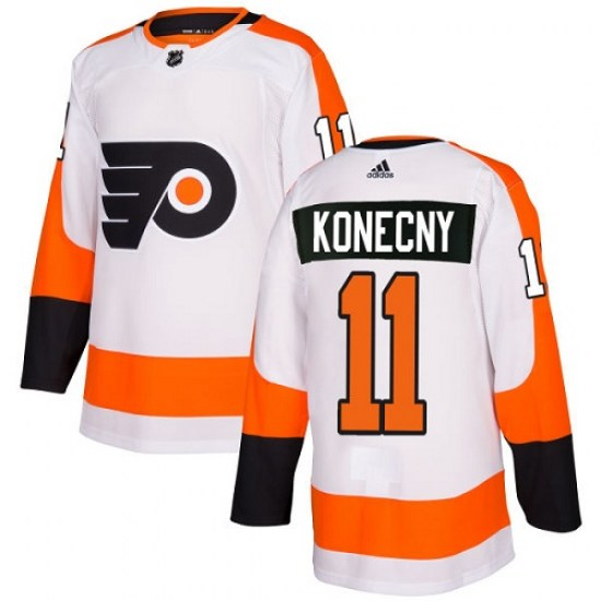 Travis Konecny Philadelphia Flyers Women's Authentic Away Adidas Jersey - White