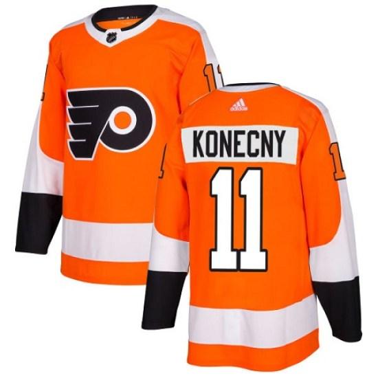 Travis Konecny Philadelphia Flyers Youth Authentic Home Adidas Jersey - Orange