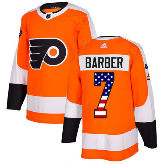 Bill Barber Philadelphia Flyers Authentic USA Flag Fashion Adidas Jersey - Orange