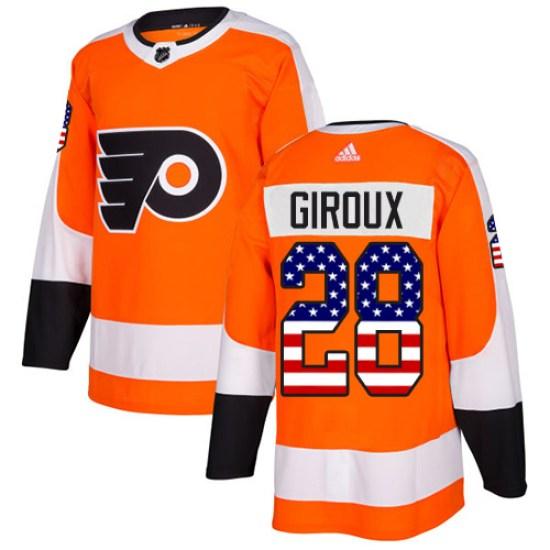 Claude Giroux Philadelphia Flyers Authentic USA Flag Fashion Adidas Jersey - Orange