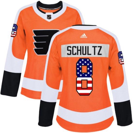 Dave Schultz Philadelphia Flyers Women's Authentic USA Flag Fashion Adidas Jersey - Orange