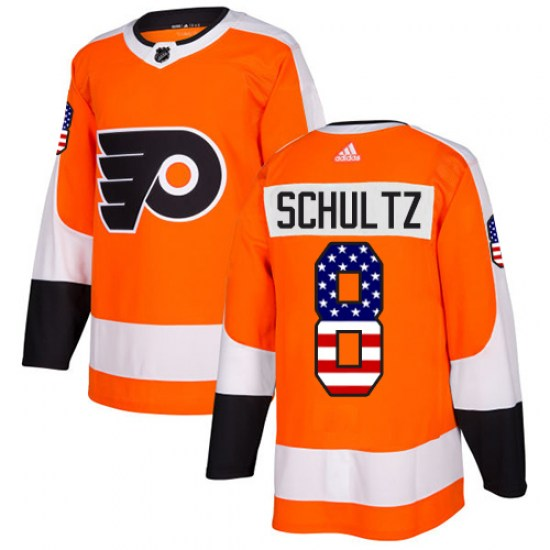 Dave Schultz Philadelphia Flyers Youth Authentic USA Flag Fashion Adidas Jersey - Orange