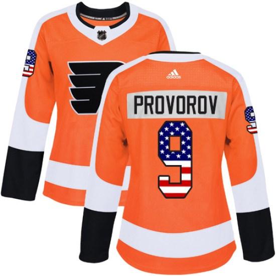 Ivan Provorov Philadelphia Flyers Women's Authentic USA Flag Fashion Adidas Jersey - Orange