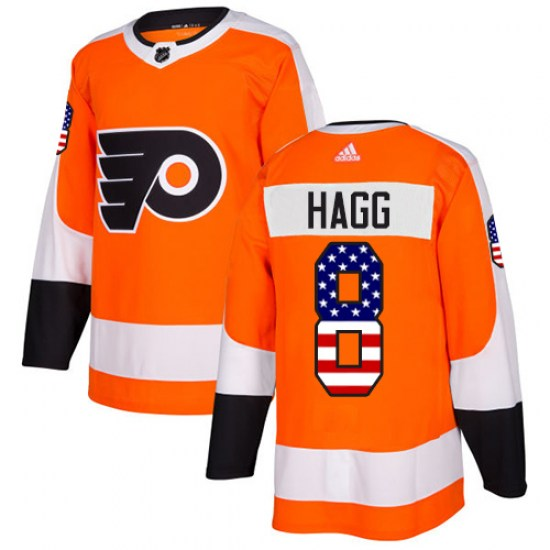 Robert Hagg Philadelphia Flyers Authentic USA Flag Fashion Adidas Jersey - Orange