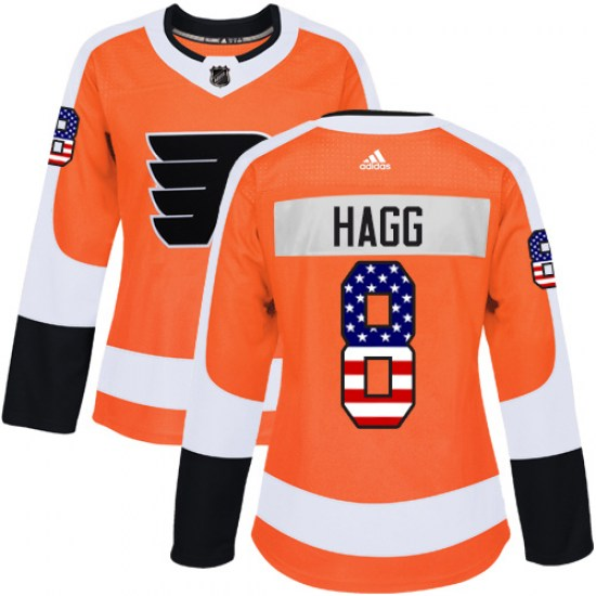 Robert Hagg Philadelphia Flyers Women's Authentic USA Flag Fashion Adidas Jersey - Orange