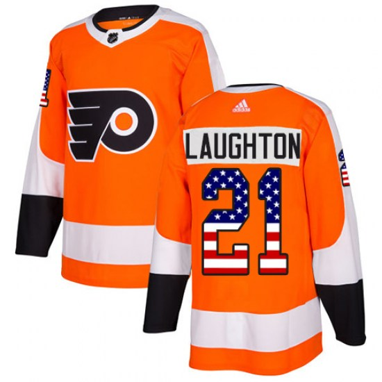 Scott Laughton Philadelphia Flyers Authentic USA Flag Fashion Adidas Jersey - Orange