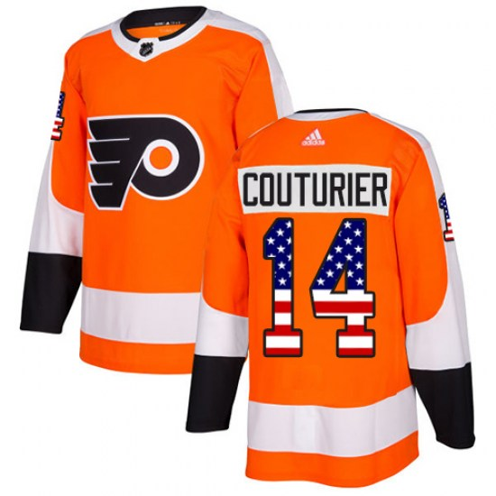 Sean Couturier Philadelphia Flyers Youth Authentic USA Flag Fashion Adidas Jersey - Orange