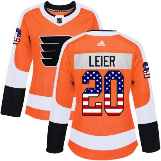 Taylor Leier Philadelphia Flyers Women's Authentic USA Flag Fashion Adidas Jersey - Orange